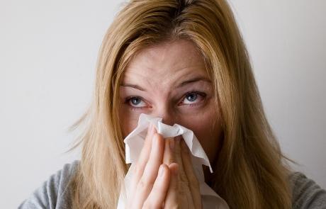 התקררות, שפעת, כאב גרון